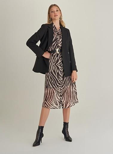 Ng Style Kruvaze Kapama Blazer Ceket Siyah